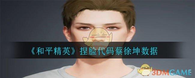 《和平精英》捏脸代码蔡徐坤数据