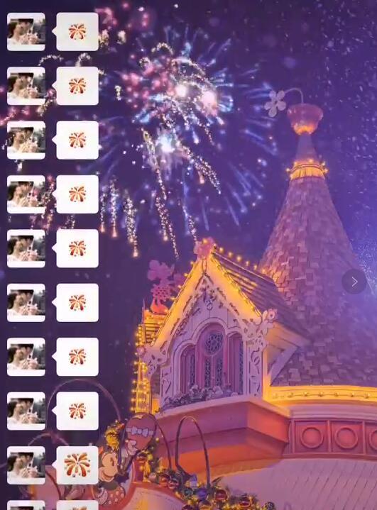 抖音迪士尼城堡烟花壁纸背景图大全