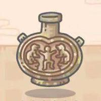 《最强蜗牛》彩绘釉陶戏狮纹扁壶属性介绍