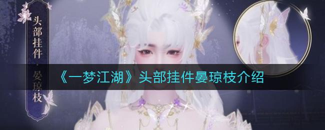 《一梦江湖》头部挂件晏琼枝介绍