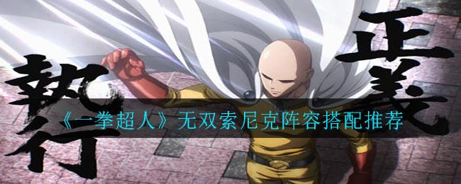 《一拳超人》无双索尼克阵容搭配推荐