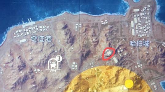 《和平精英》黄金岛写名字的墙位置介绍