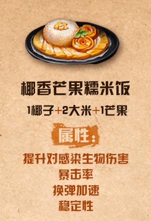 《明日之后》椰香芒果糯米饭配方介绍