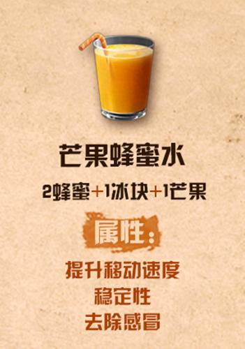 《明日之后》芒果蜂蜜水配方介绍