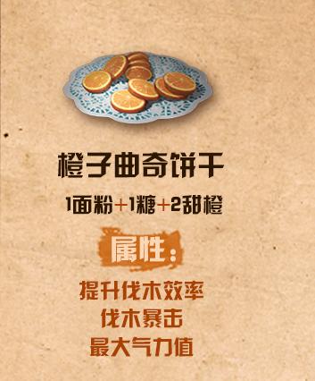 《明日之后》橙子曲奇饼干配方介绍