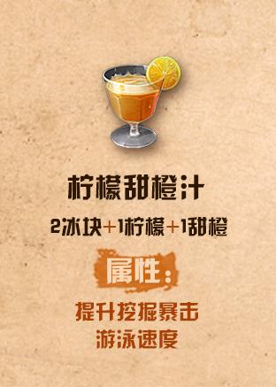 《明日之后》柠檬甜橙汁配方介绍