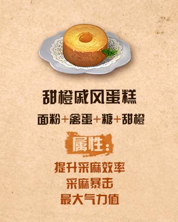 《明日之后》甜橙戚风蛋糕配方介绍
