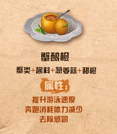 《明日之后》蟹酿橙配方介绍