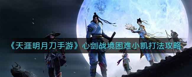 《天涯明月刀手游》心剑战境困难小凯打法攻略