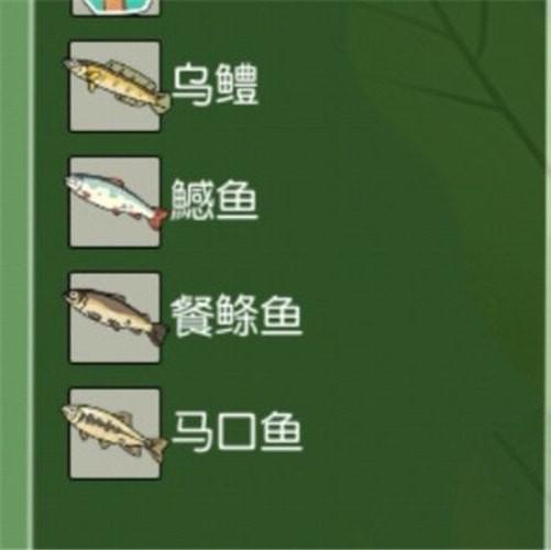 《小森生活》鱼类分布位置介绍