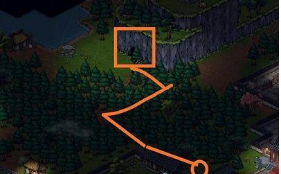 《烟雨江湖》落霞镇山洞位置介绍