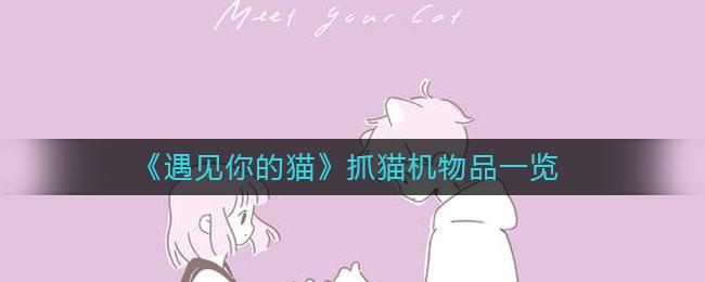 《遇见你的猫》抓猫机物品一览