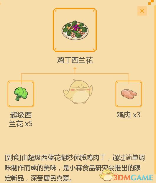 《小森生活》鸡丁西兰花食谱配方介绍
