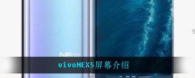 vivoNEX5屏幕介绍