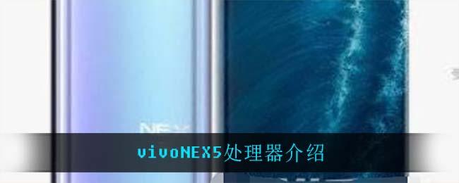 vivoNEX5处理器介绍