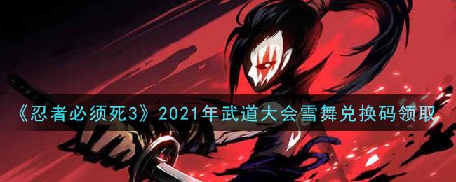 《忍者必须死3》2021年武道大会雪舞兑换码领取