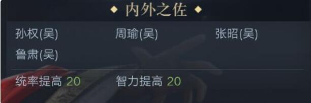 《荣耀新三国》孙权技能属性图鉴
