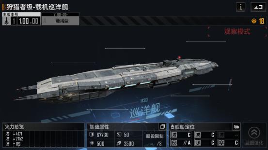 《无尽的拉格朗日》狩猎级巡洋舰强度分析