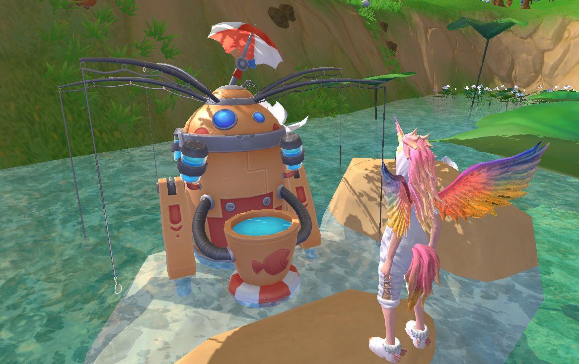 《创造与魔法》钓鱼机器人使用攻略