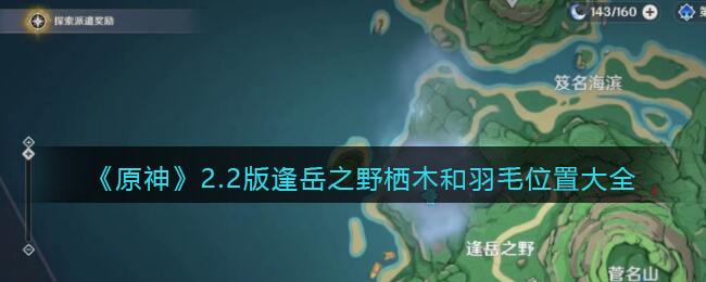 《原神》2.2版逢岳之野栖木和羽毛位置大全