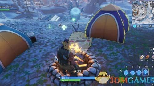 《堡垒之夜》手游互动篝火刷新位置介绍