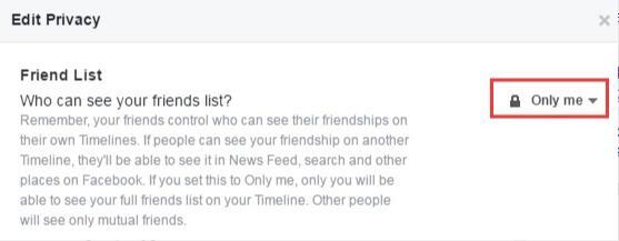 《Facebook》设置好友别人不可见教程
